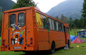 The Bliss Bus in Fiesch, Switzerland