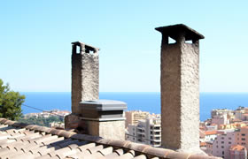Chimneys overlooking Nice and Monaco