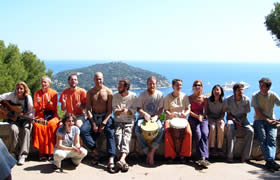 The group above the coast at Nice, France